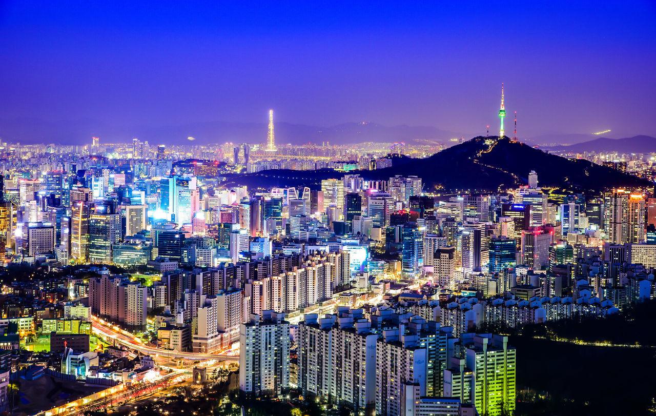 Eyeemphotography Cityscape EyeEm Best Shots Building Exterior Sky Nikon D750 Seoul Mountain Skyscraper Aerial View Night City Cityscape Dusk Namsan EyeEmBestPics EyeEm Night Shots EyeEm Nightscape