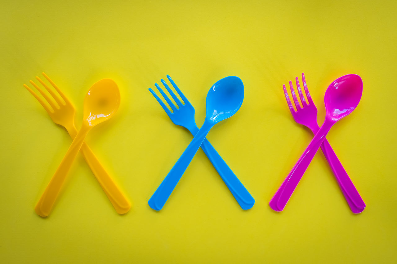 still life, studio shot, yellow, yellow background, high angle view, close-up, no people, multi colored, indoors, day