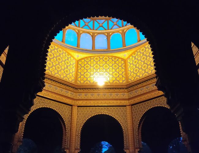 Arch Architecture Building Exterior Built Structure History Illuminated Indoors  Kiosco  Kiosk Low Angle View Night No People Old Buildings Old-fashioned Ornate SantaMaríaLaRibera Travel Destinations