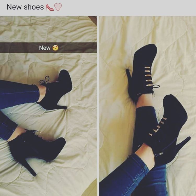 Newshoes Loveit Blackandgold HighHeels Laces Happyme Fashion Today's Hot Look Taking Photos
