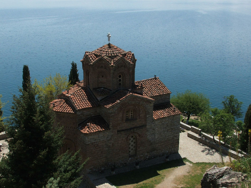 Architecture Beauty In Nature Building Exterior Built Structure Chirch Day EyeEmNewHere Kaneo Lake Macedonia Nature No People Ohrid Outdoors Place Of Worship Religion Spirituality St. Jovan Kaneo St. Jovan Kaneo, Ohrid Tree Water