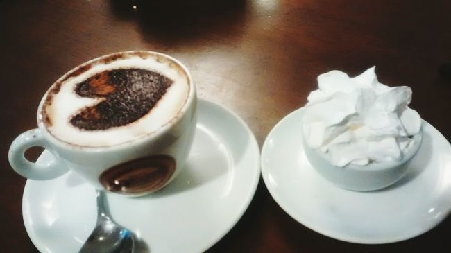 Drinking A Latte Relaxing Cappucino Iloveit