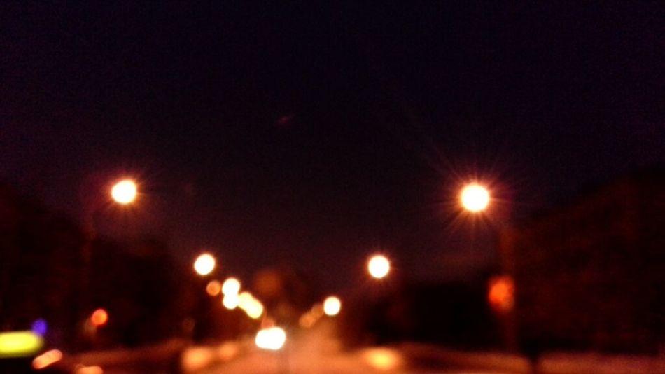 свет фонари вечер безфокуса Дорога алея