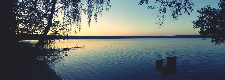 Lake Nature Landscape Sunset