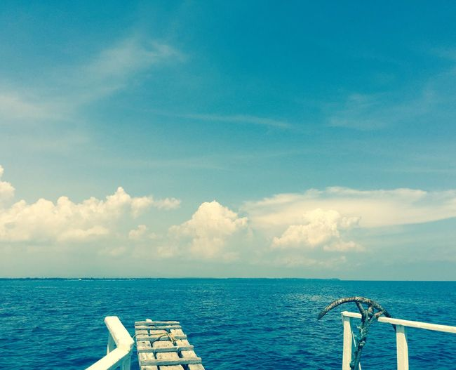 # #bluewater #landscape #nature #photography #sky #travel #trip Beauty In Nature Cloud - Sky Day Horizon Over Water Nature Nautical Vessel No People Outdoors Scenics Sea Sky Tranquil Scene Tranquility Water