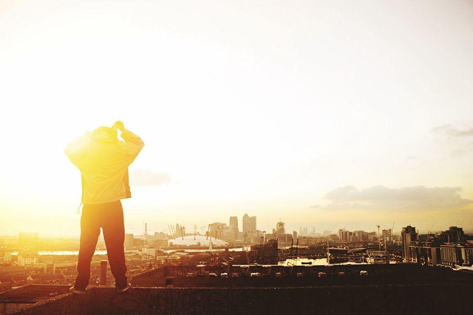 Beautiful stock photos of sunshine, Cityscape, Cloud, Gold Colored, London