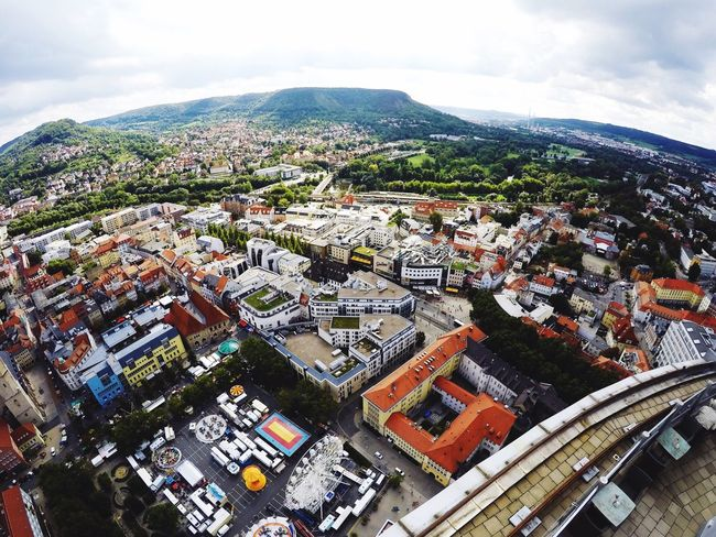 Jena Aerial View View From Above Fisheye