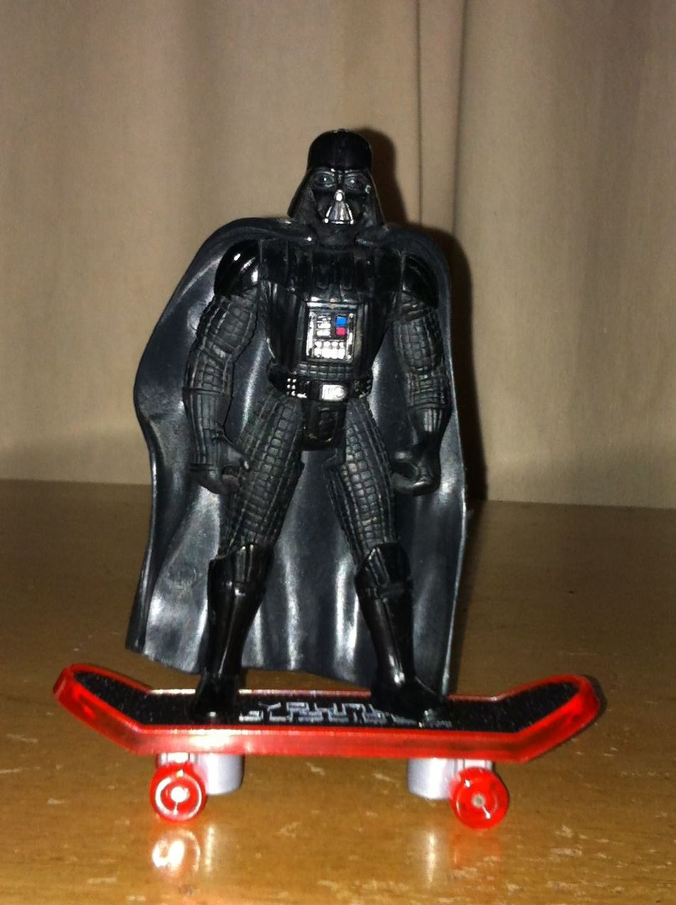 Technology Table Full Length Indoors  Camera - Photographic Equipment No People Close-up Day Toy Toyphotography Darth Vader Skateboarding Galaxy