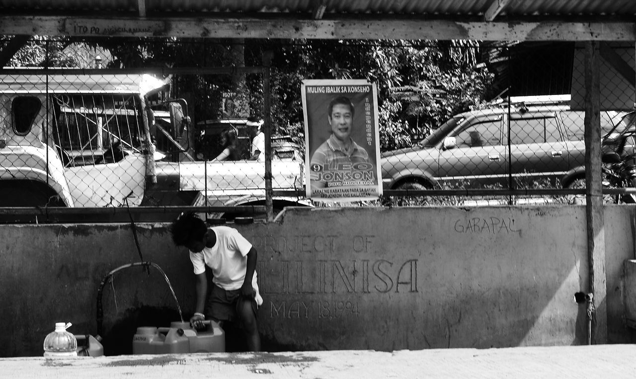 GARAPAL Batangas Blackandwhite Child EyeemPhilippines Outdoors Political Street Art Streetphotography Water