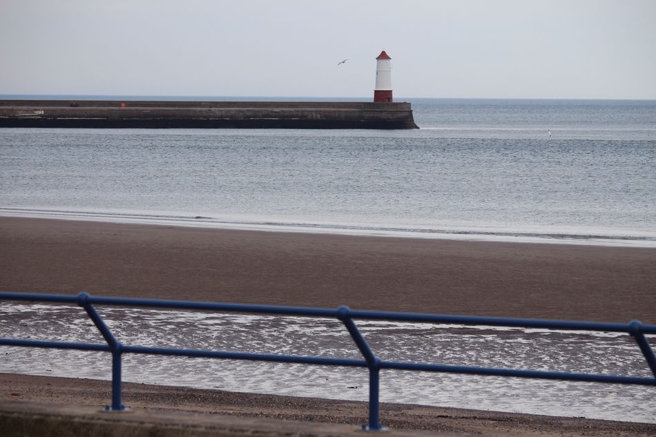 Zonal Lighthouse Sea Railing Water Direction Guidance Safety Day Protection Beach Nature Built Structure Architecture Horizon Over Water Scenics Tranquility Looking Through Northumberland Layers And Colors Travel Destinations No People Clear Sky