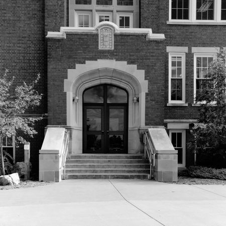 North Hall Architecture Building Exterior Built Structure Entrance Arch Door No People Monochrome Photography
