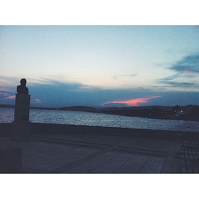 The Sun goes down!! Summer Summertime Greece Sea