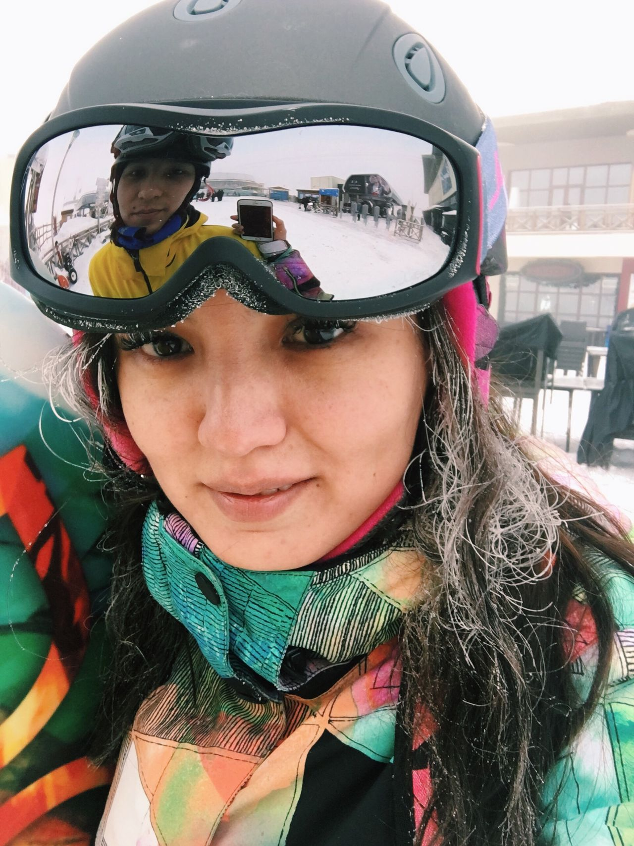 My Year My View Snow Sports Snow Snowboarding Snowboard Girl Close-up Ski Resort  Fun Extreme Snowboard Gear Gear Goggles Glasses