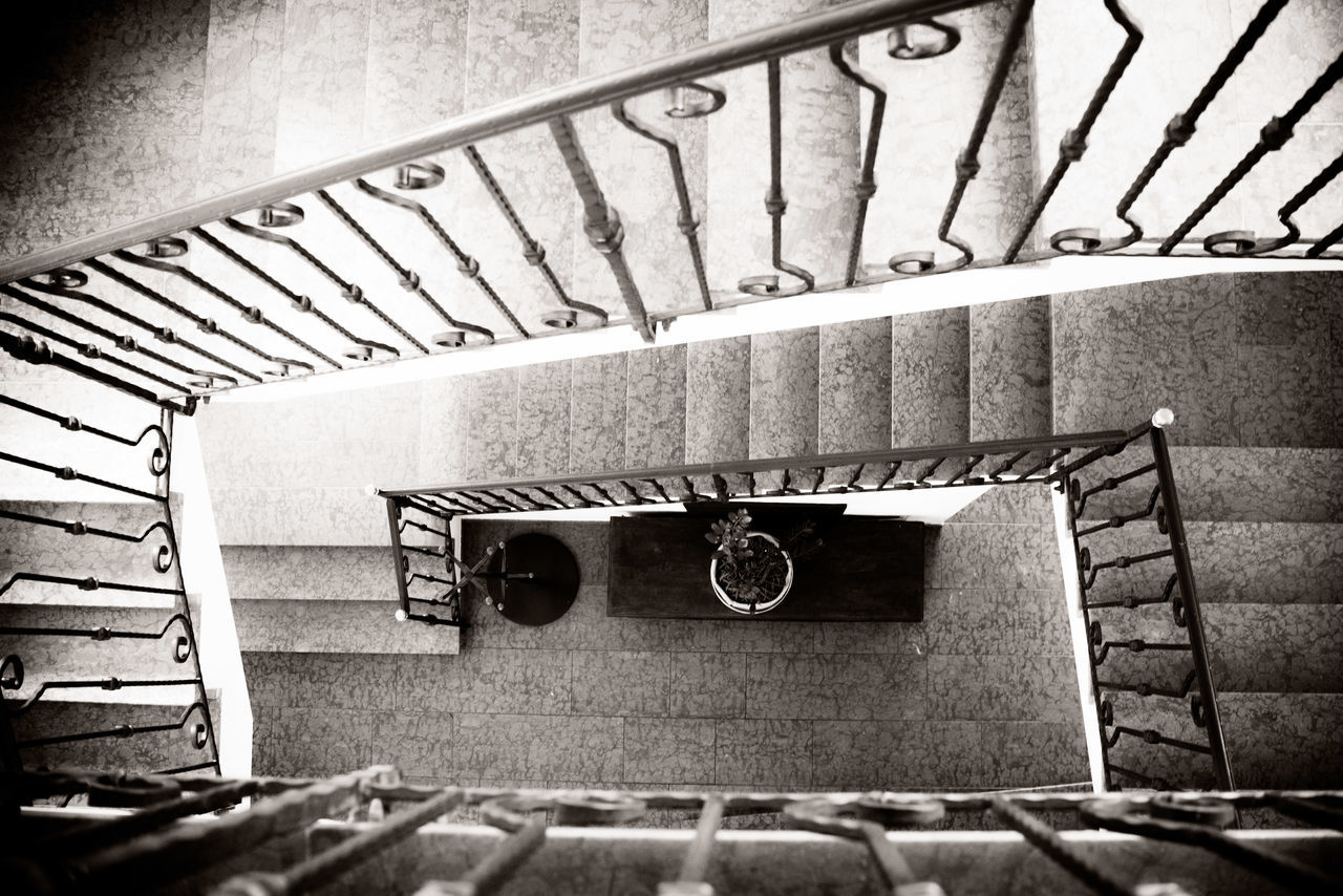 Black And White Blackandwhite Photography Close Up Entrance House Indoors  Light And Shadow No People Overhead Stair Stairs Structure