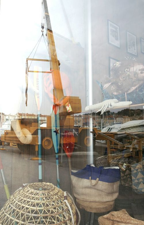 Saint Tropez Sea Marine Shopwindow Reflection