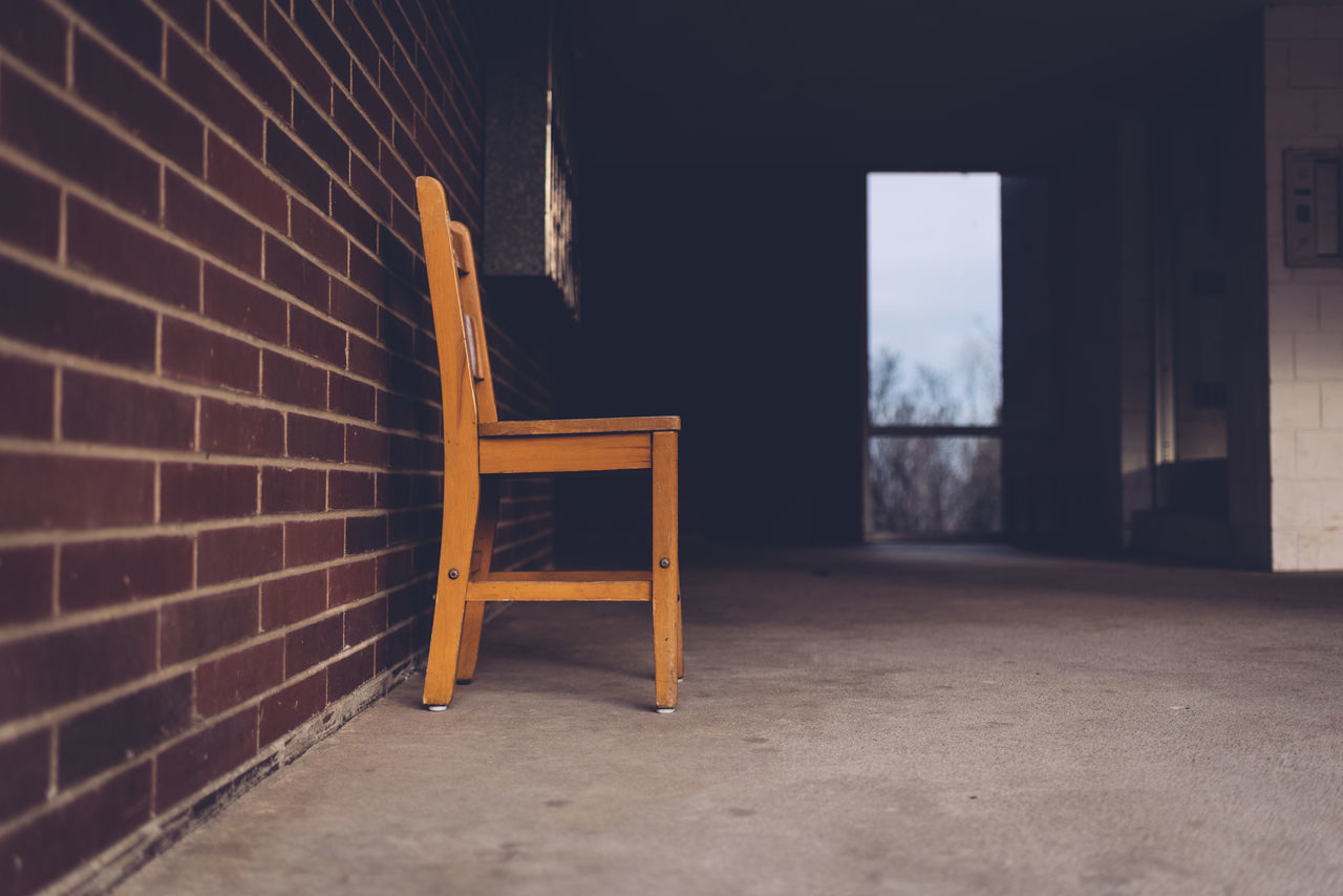 Abandoned Absence Apartment Apartment Buildings Chair Close-up Day Empty No People Porch Wooden