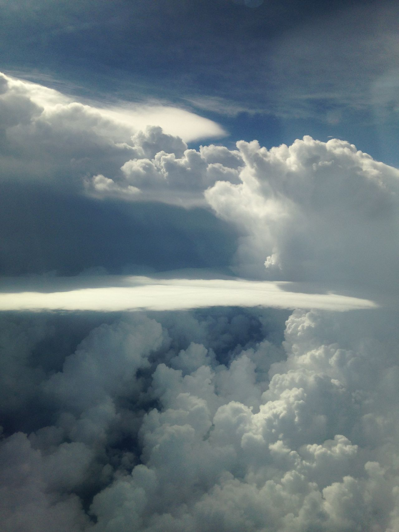 Spooky Sky From Airplane Above Cuba