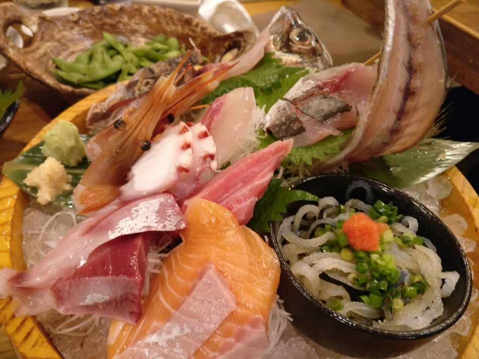 Sashimi, sushi Seafood Healthy Eating Freshness Ready-to-eat Japanese Food Tokyo,Japan