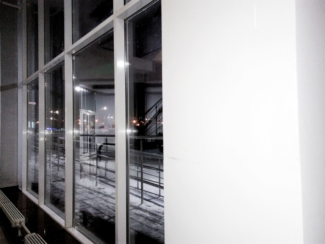 illuminated, window, night, architecture, no people, indoors