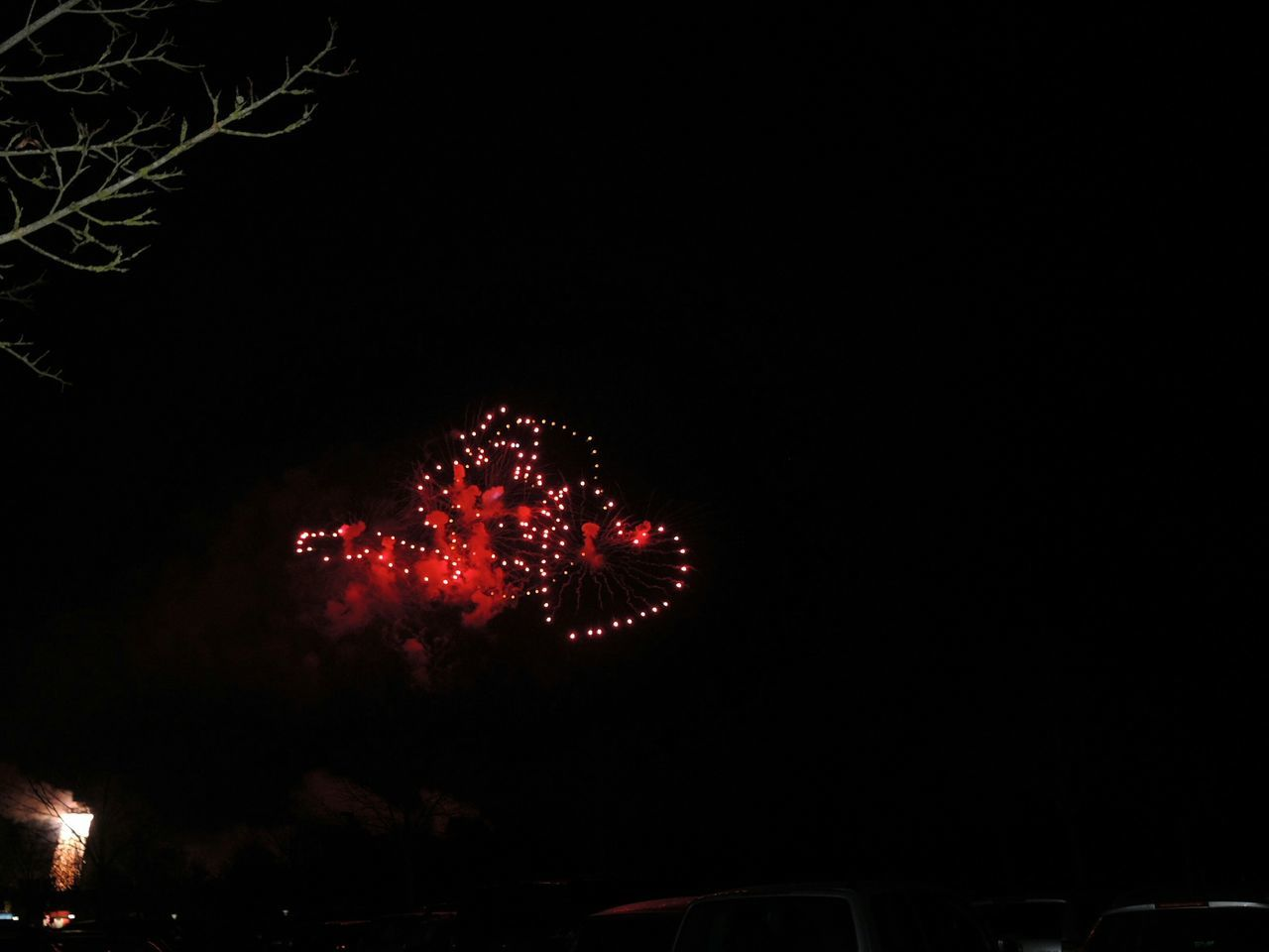 Red Illuminated Tree Fireworks Night Red Light Heart Heart ❤ Hearts♡hearts Hearts Mode Of Transport Land Vehicle Car No People Christmas Decoration Outdoors