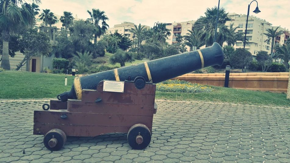 History Weapon Tree War Cannon Day Outdoors Military No People Sky