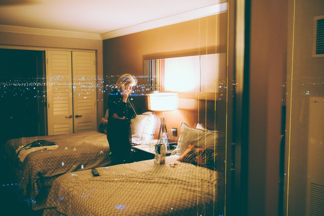Vegas, Nov. 2015 Window Lifestyles One Person Child Indoors  Standing Playing Children Only Illuminated Home Interior One Girl Only People Real People Childhood Domestic Room Night Young Adult Adult Vegas  Parkwayberlin Xseries Fujifilm Xt2 VSCO