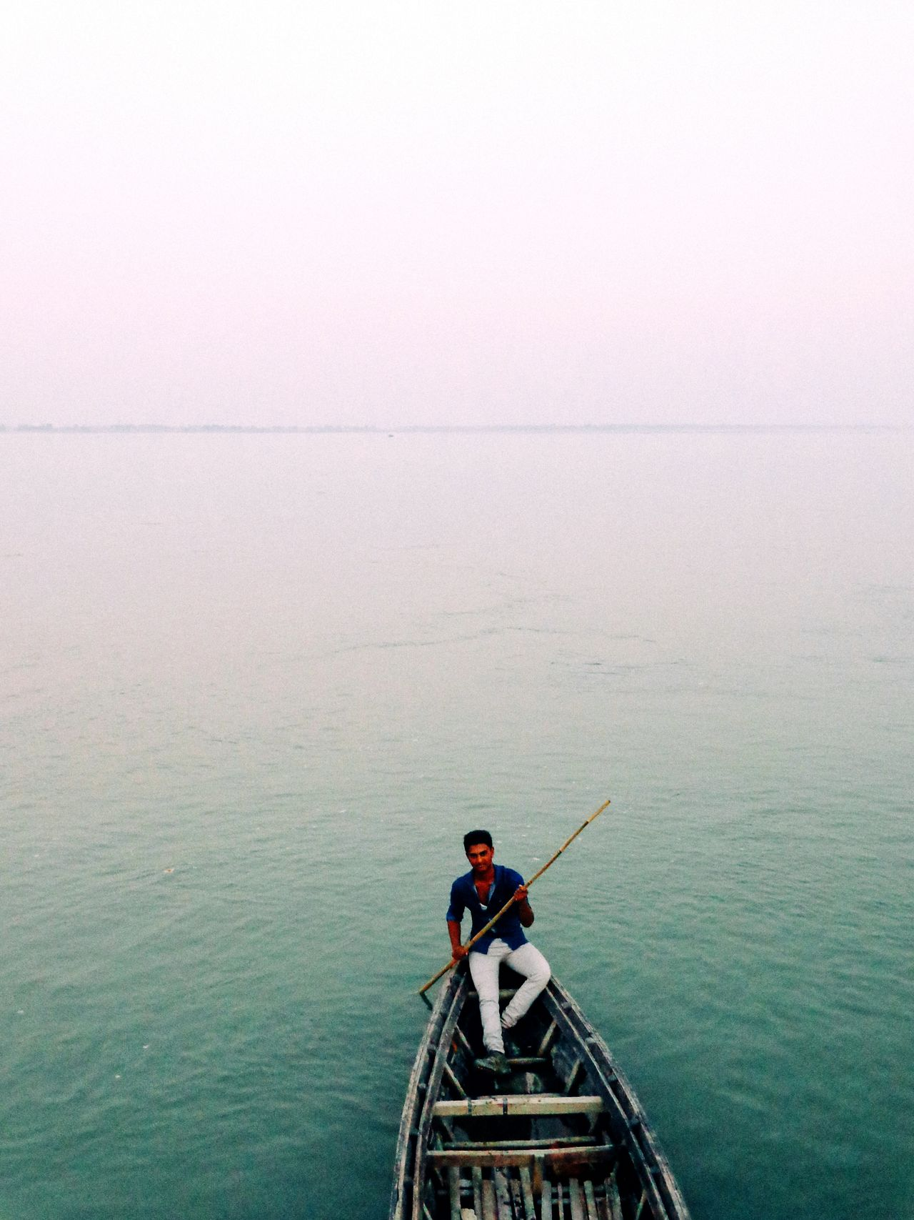 Outdoors Water Full Length One Person Only Men One Man Only Nature Sky Bangladesh Travel Photography Traveling The World Travelling Travel Water Surface Waterscape Traveling Photography Traveling Boat Travelling Photography Travelgram Travelphotography Traveler EyeEm Travel Photography EyeEm Traveling