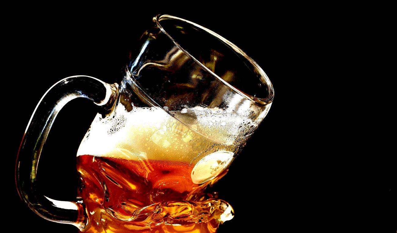 Beer glass Drink Food And Drink Refreshment Black Background Close-up No People Drinking Glass Studio Shot Glass Beer Glass Freshness Bent Beer Deformed Glass Art Delicious Beer Mug Beer Drinking Glass Mug Refresh Thirst Thirsty  Funny Cold Drink Alcohol