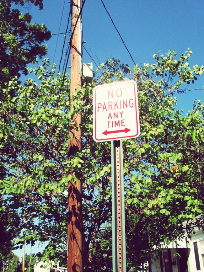 Sign Road Sign Low Angle View Text Information Sign Pole No Parking Sign