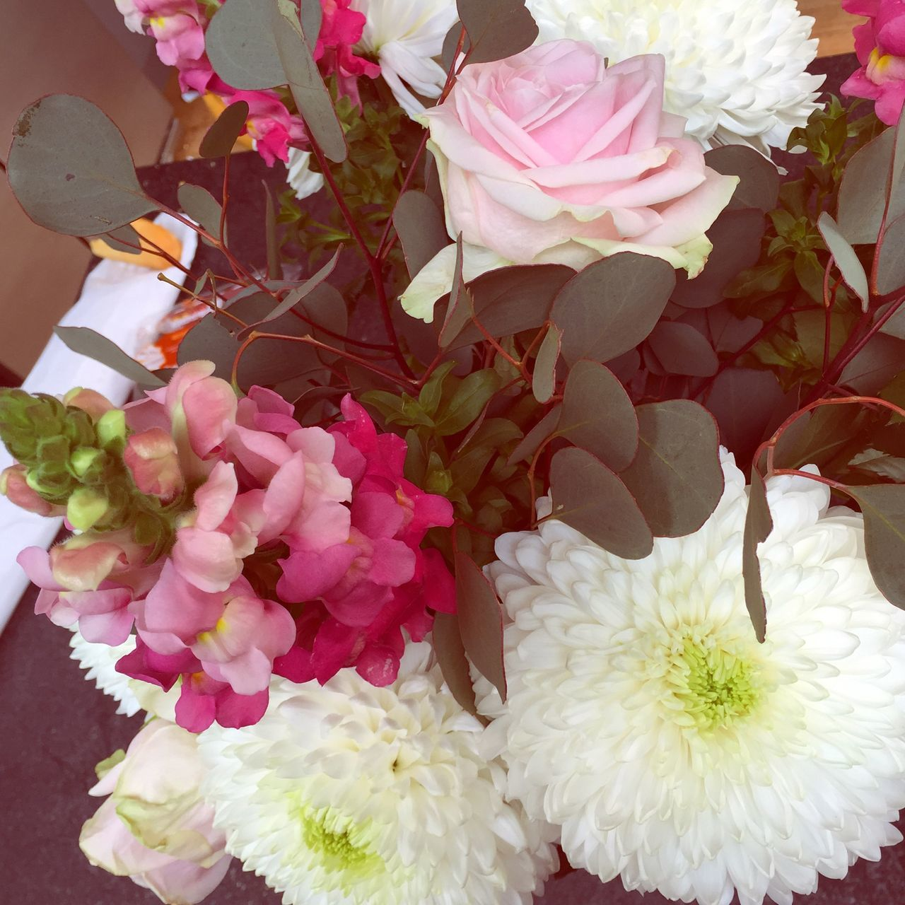 flower, petal, freshness, fragility, pink color, flower head, beauty in nature, nature, bouquet, no people, close-up, day, outdoors, blooming, low section, florist