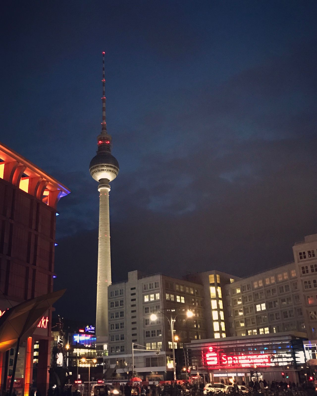 Night Lights Night Lights Colors City Urban Fernsehturm Tower Berlin
