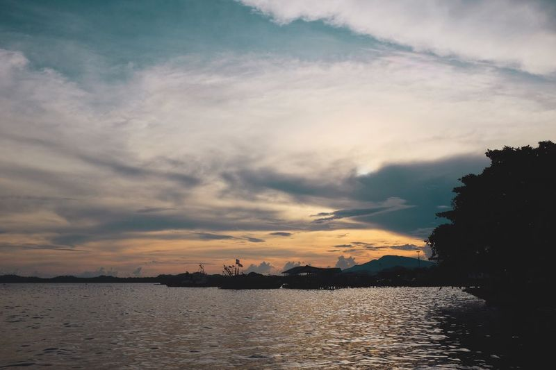 There is nothing like beautiful sunset to end a beautiful day Sky Sunset Silhouette Cloud - Sky Water Nature Nautical Vessel Tranquil Scene Outdoors Sea No People Scenics Beauty In Nature Day