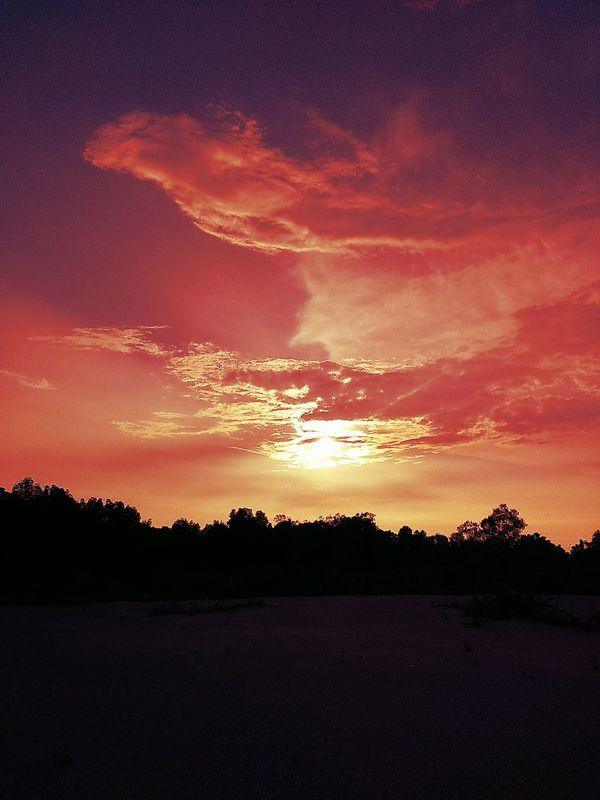 Sunset Landscape Natural Nature Portklang