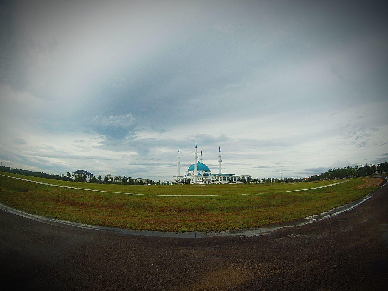 Sky Mosque Green Grass Johor Bahru