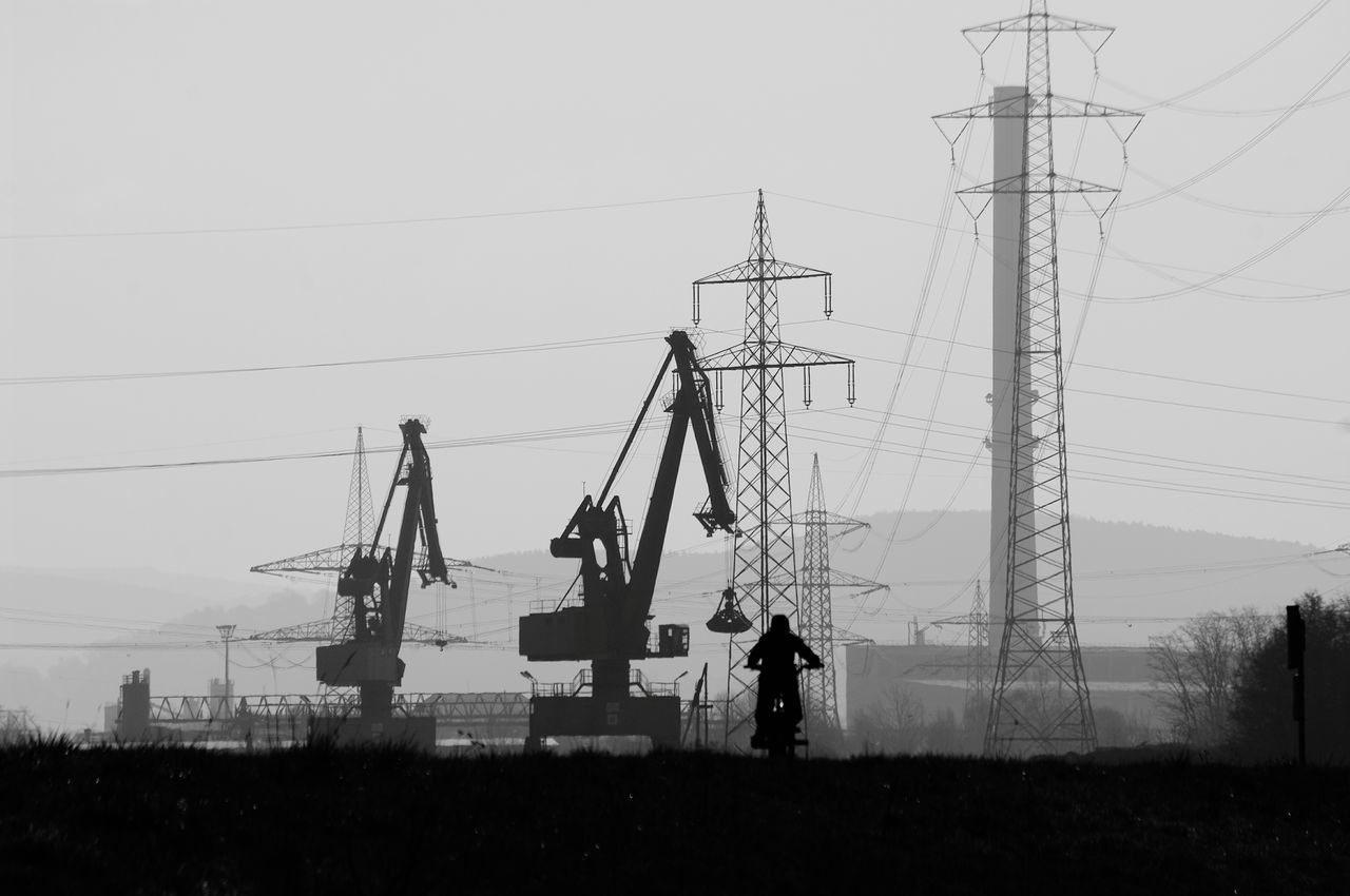 cable, electricity pylon, fuel and power generation, connection, electricity, power line, power supply, technology, day, outdoors, sky, clear sky, no people, industry