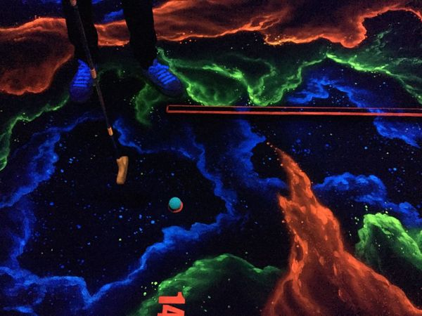 Star - Space Minigolf Mini Golf Course Neon 3D No People Multi Colored Night Outdoors Astronomy Illuminated Space Galaxy Beauty In Nature Nature Close-up Sky