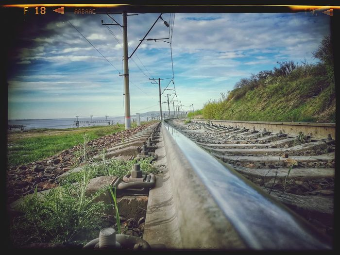 Railroad Track Cloud - Sky Outdoors Day Landscape
