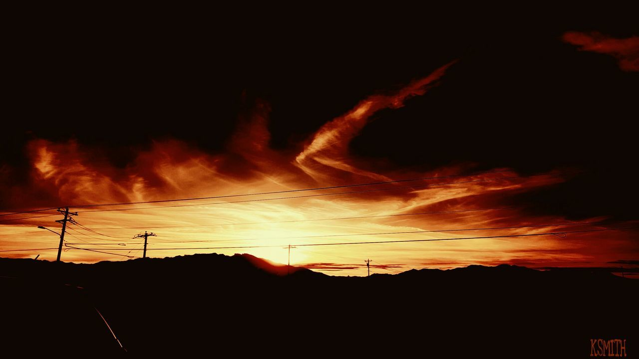 Silhouette Sky Nature Outdoors Tranquility Edited KSMITH22 Sunset Illuminated Horizon Beauty In Nature Silhouette