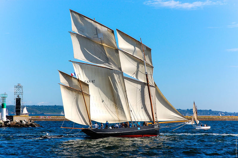 La Cancalaise, bisquine Boat Brest Bretagne Brittany Environmental Conservation Famous Place France Mast Mode Of Transport Nautical Vessel No People Outdoors Rope Sailboat Sailing Sailing Ship Tonnerre De Brest 2012 Transportation Water