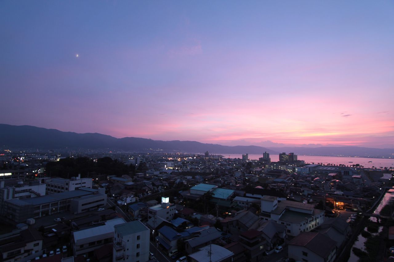 Japan Nagano Suwa Photography Lake Suwa Lake Sunset