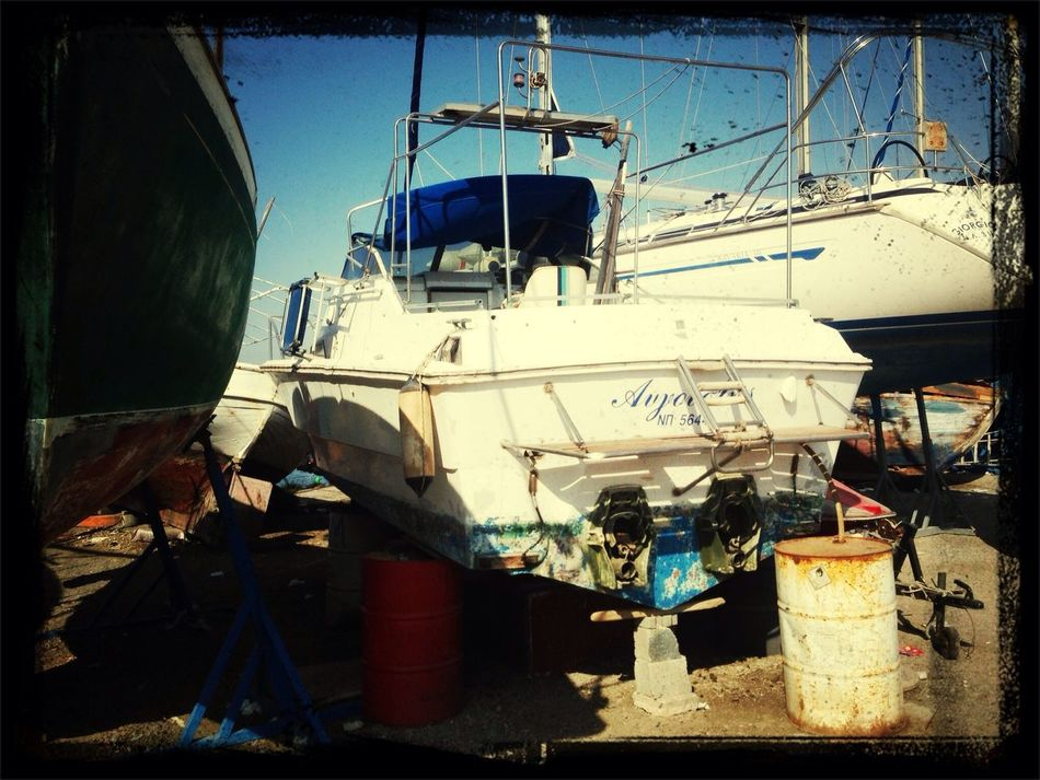 working on the boat...long hours i see....
