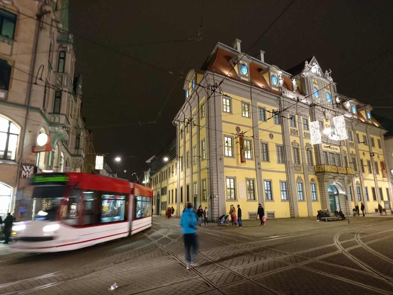 Illuminated Architecture Travel Destinations Tourism Night EyeEm Best Shots Sony Xperia Photography. Sony Xperia Zr 🇩🇪Germany IMography Xperiaphotography Streamzoofamily EyeEm Deutschland Outdoors Reflection EyeEm Best Shots - The Streets Light Effect Tram Welcome To Black