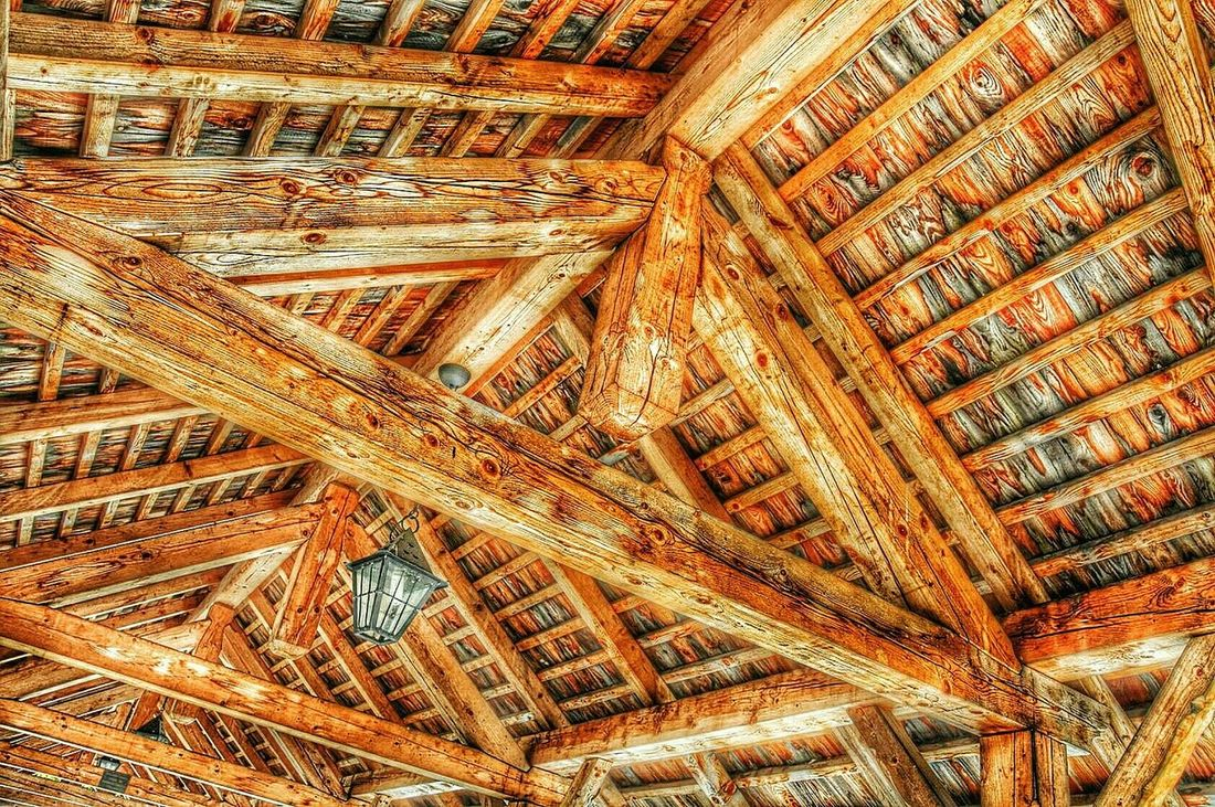 wooden roof Roof Roof Structure Wood - Material Wooden Timber Timber Beam Timbered Houses Timber Frame Timbered House Girders Beam Architectural Detail Green Architecture Construction Materials Construction Material Built Structure Building Structures EyeEm Best Shots EyeEm Best Edits Color Palette