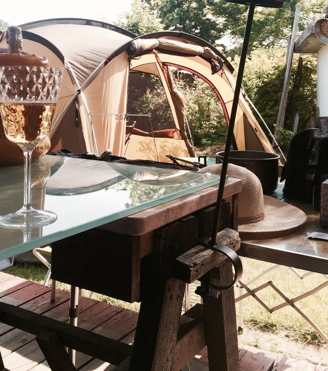 My Favorite Place Korea Korea_yeoju Relaxing Chillaxing Refreshment Outdoors Cottage Champagne Calm Camping Table Holiday Hanging Out
