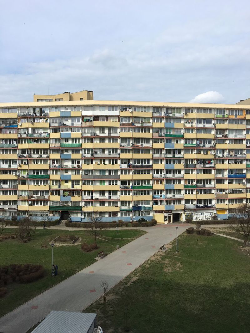Sky Building Exterior Architecture Built Structure City House No People Outdoors Day Block Of Flats Falowiec