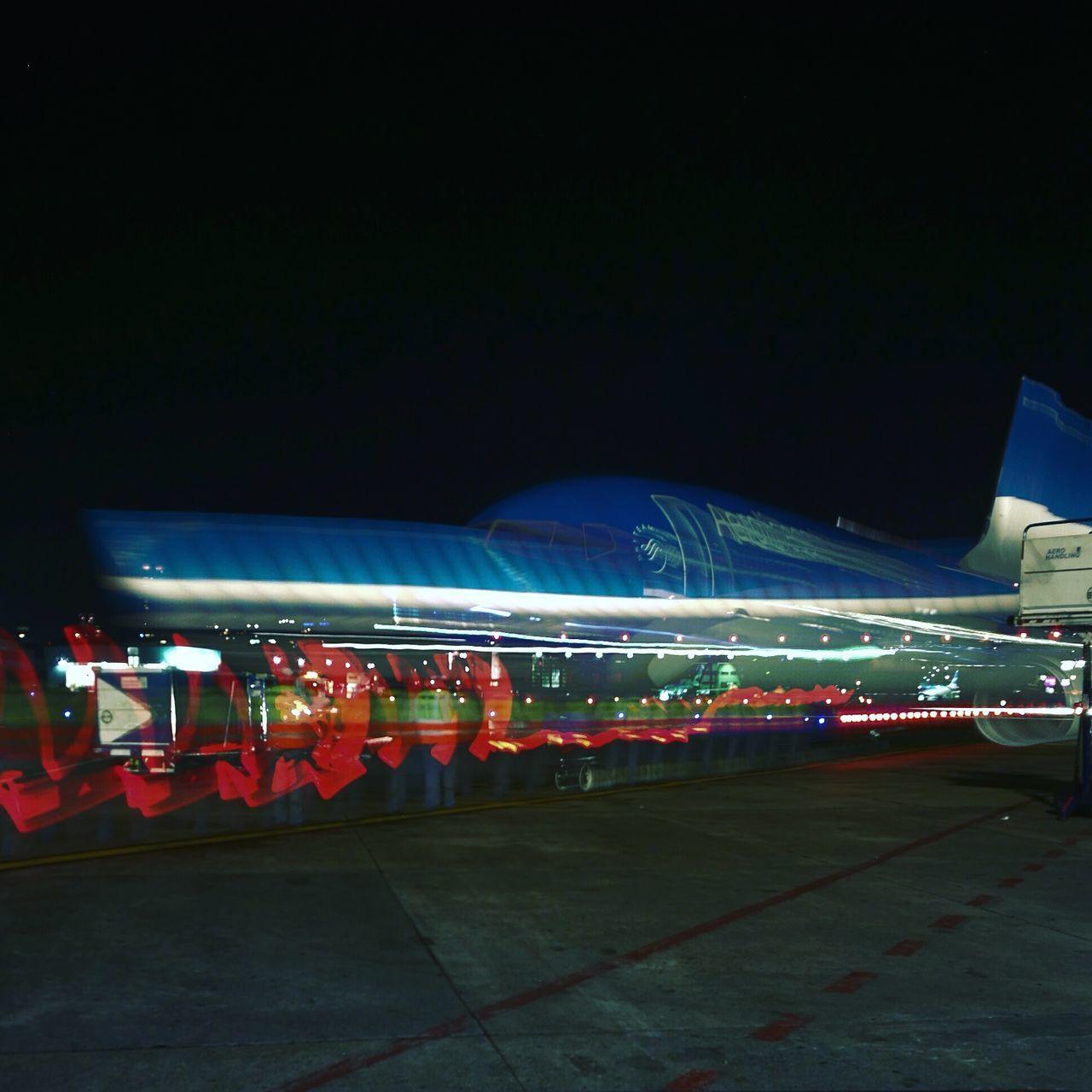 Night Illuminated Outdoors Art In Movement Marshaling Conections Sky Multiple Image Aviation