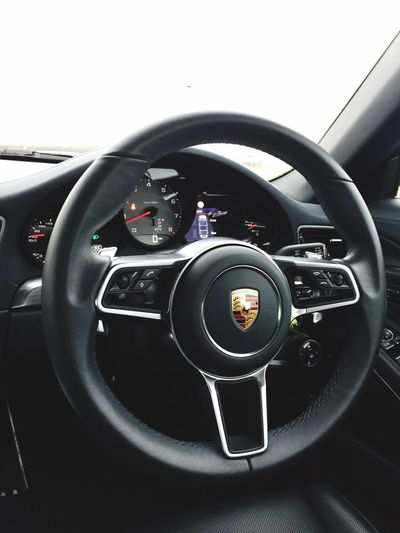 Car Transportation Car Interior Vehicle Interior Mode Of Transport Black Color Close-up Gearshift Technology Luxury Dashboard Vehicle Part Steering Wheel No People Modern Indoors  Gauge Day