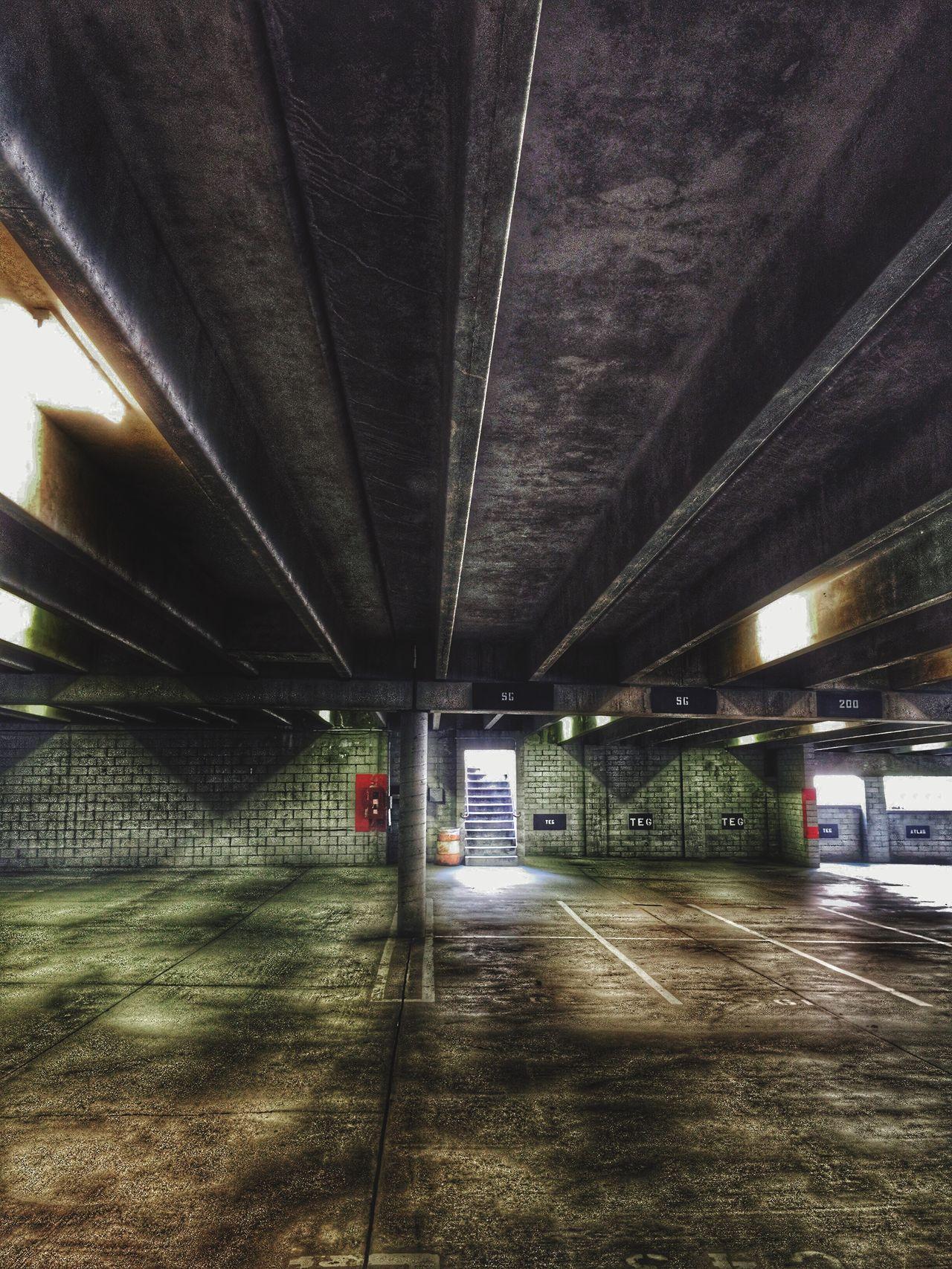 Under parking garage ( blank )