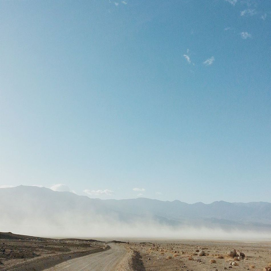 Afternoon dust storms. Deathvalleynationalpark Deathvalley Middlebasin Desolationcanyon california roadtrip