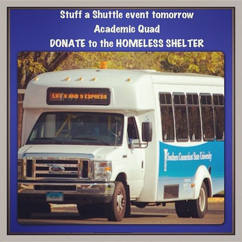 StuffaShuttle Event SCSU College donate homless shelter newhaven great cause feel good BetaMuSigma ZDE ill livelife jimbosports